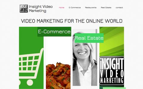 Screenshot of Home Page insightvideomarketing.com - Insight Video marketing marketing and sales videos winnipeg,MB  - captured Sept. 30, 2014