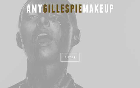 Screenshot of Home Page amygillespiemakeup.com - Amy Gillespie Makeup ArtistHome - captured Nov. 20, 2016