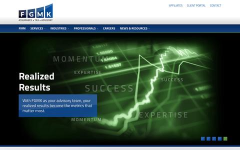 Screenshot of Home Page fgmk.com - FGMK - Chicago Accounting and Consulting Firm - captured Feb. 9, 2016