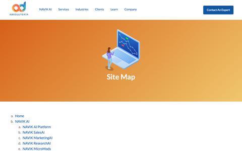 Screenshot of Site Map Page absolutdata.com - Sitemap | Absolutdata - captured Nov. 3, 2018