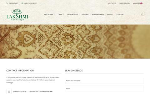 Screenshot of Contact Page lakshmi.it - Contact Us – Lakshmi - captured July 10, 2016