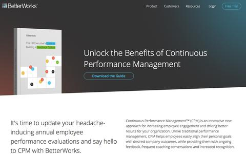 Continuous Performance Management System for Employee Engagement & Development | BetterWorks