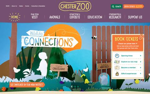 Screenshot of Home Page chesterzoo.org - Visit Chester Zoo - the UK's number one zoo - captured Jan. 31, 2016
