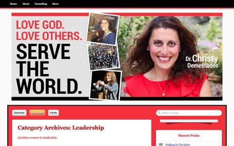 Screenshot of Team Page drchristyd.com - Leadership | Christy Demetriades, Ph.D. - captured Feb. 9, 2016