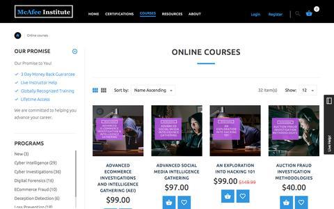 Online Courses | McAfee Institute