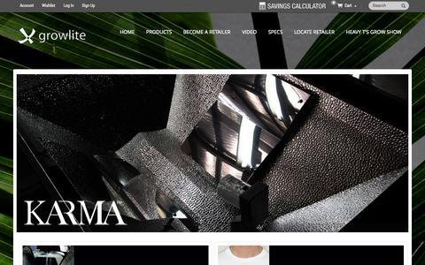Screenshot of Press Page growlite.com - Home Page - captured Oct. 3, 2014