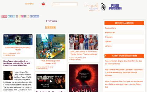 Screenshot of Press Page filmfetish.com - Editorials    Film Fetish #filmfetish - captured Jan. 29, 2018