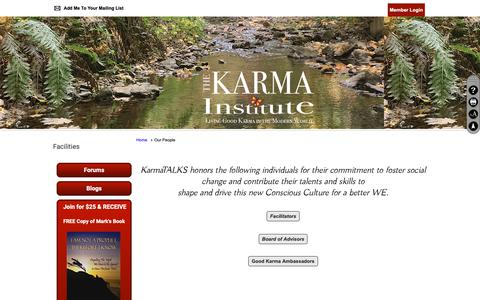 Screenshot of Team Page clubexpress.com - Our People - The Karma Institute - captured Nov. 20, 2018
