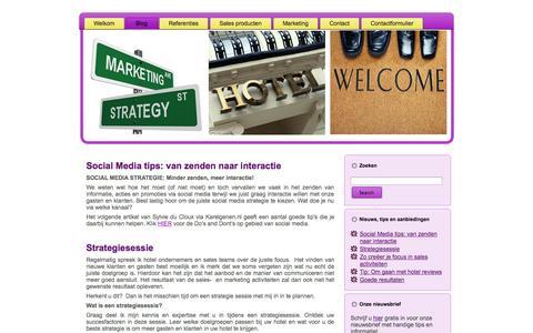 Screenshot of Blog buro-bic.nl - Buro Bic is gespecialiseerd in sales & marketingadvies gericht met name op de hotellerie | Buro-Bic.nl - captured Sept. 30, 2014