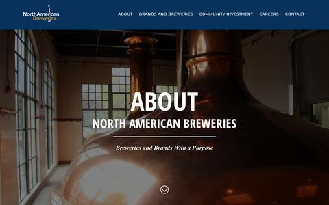 Screenshot of About Page nabreweries.com - About Us | North American Breweries - captured Sept. 27, 2018