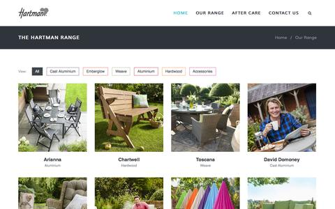 Screenshot of Products Page hartmanuk.com - Our Range  - Hartman Outdoor Furniture Products UK - captured Sept. 3, 2016
