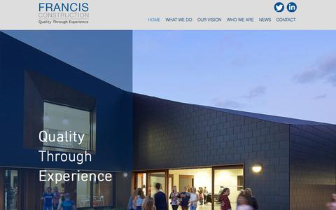 Screenshot of Home Page francisconstruction.co.uk - francisconstruction - captured Aug. 18, 2018