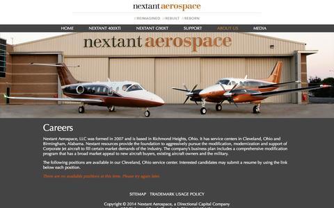 Screenshot of Jobs Page nextantaerospace.com - Careers - Nextant Aerospace - captured Nov. 5, 2014