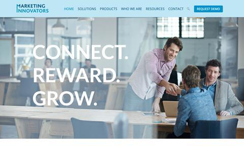 Screenshot of Home Page marketinginnovators.com - Marketing Innovators - captured Oct. 16, 2018
