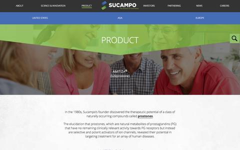 Screenshot of Products Page sucampo.com - Product «  Sucampo - captured Aug. 12, 2015