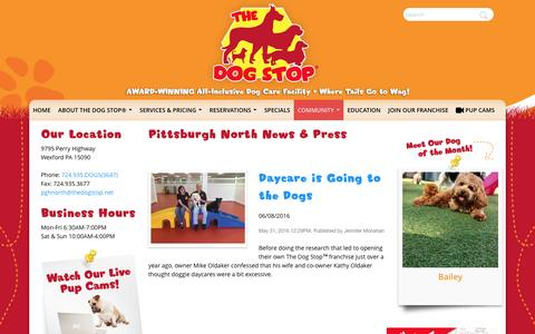 Screenshot of Press Page thedogstop.net - The Dog Stop® | - captured Nov. 27, 2016