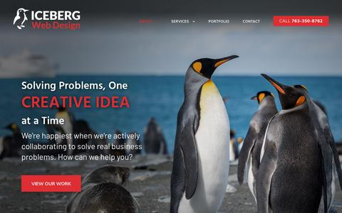 Screenshot of About Page icebergwebdesign.com - About Iceberg Web Design | Custom Website Devleopment - captured July 13, 2019