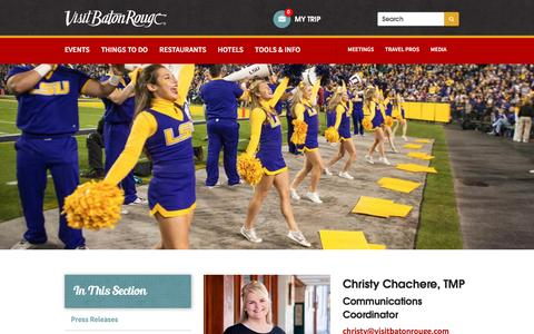 Screenshot of Press Page visitbatonrouge.com - Media   Visit Baton Rouge - captured Aug. 13, 2016