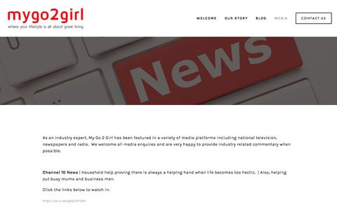 Screenshot of Press Page mygo2girl.com.au - Media — mygo2girl - captured Nov. 30, 2016