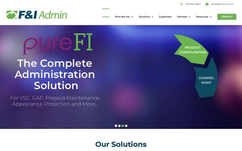 F&I Administration Solutions – The Leading Solutions Provider for F&I Product Administration & Reporting