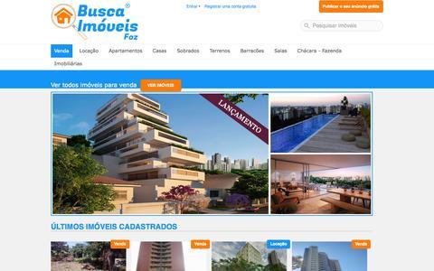 Screenshot of Home Page ajaxweb.com.br - Imóveis em Foz do Iguaçu: Venda e Aluguel   Busca Imóveis Foz - captured Oct. 4, 2014