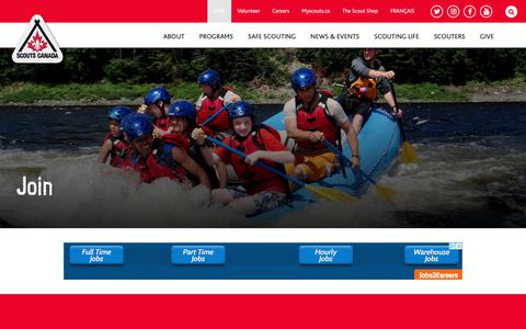 Screenshot of Signup Page scouts.ca - Join - Scouts Canada - captured Oct. 1, 2018