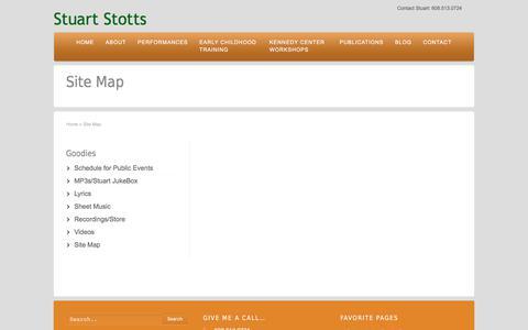Screenshot of Site Map Page stuartstotts.com - Site Map for Stuart Stotts web site | Stuart Stotts - captured Nov. 10, 2017