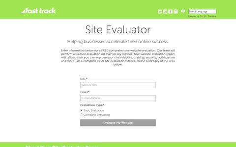Screenshot of Home Page site-evaluator.com - Site Evaluator | Free Website Evaluation - captured July 8, 2018
