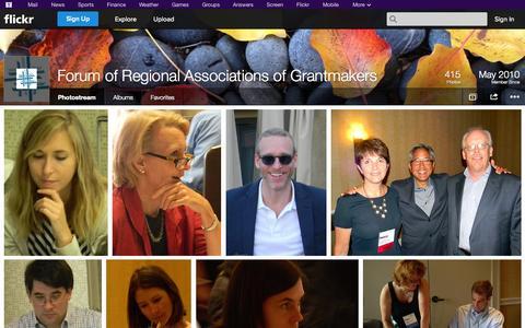 Screenshot of Flickr Page flickr.com - Flickr: Forum of Regional Associations of Grantmakers' Photostream - captured Oct. 23, 2014