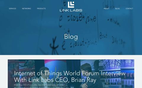 Screenshot of Blog link-labs.com - Blog - Link Labs - captured Oct. 28, 2014