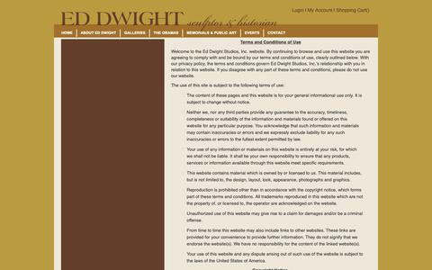 Screenshot of Terms Page eddwight.com - Ed Dwight Studios - Terms & Conditions - captured Sept. 27, 2018