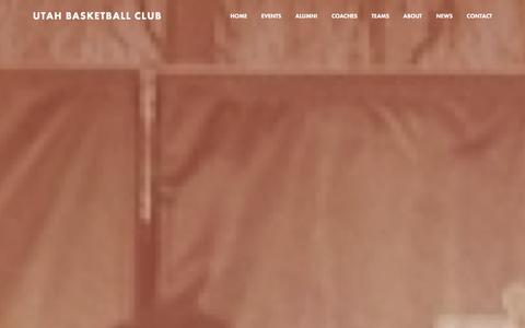 Screenshot of Home Page utahbasketballclub.org - Utah Basketball Club - captured Jan. 12, 2016