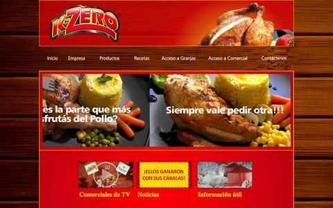 Screenshot of Home Page kzero.com.py - K-zero - captured Oct. 3, 2014
