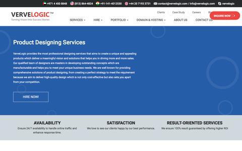 Screenshot of vervelogic.com - Best Product Design Services - Vervelogic - captured Jan. 1, 2018