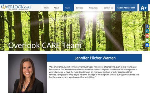 Screenshot of Team Page care-elderspecialist.com - Overlook CARE Team - Overlook CARE - captured Jan. 20, 2018
