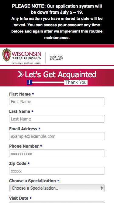 Let's Get Acquainted | Wisconsin School of Business