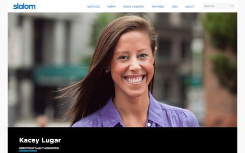 Screenshot of Team Page slalom.com - Kacey Lugar | Slalom - captured Jan. 20, 2018