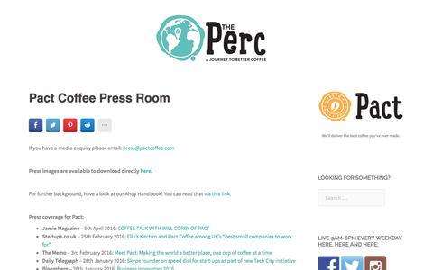 Screenshot of Press Page pactcoffee.com - Pact Coffee Press Room - captured May 19, 2016