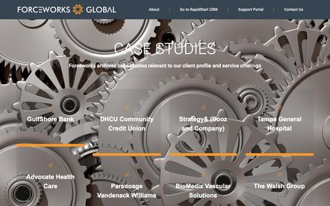Screenshot of Case Studies Page forceworks.com - Case Studies – Forceworks – Dynamics 365 Partner - captured Nov. 6, 2018
