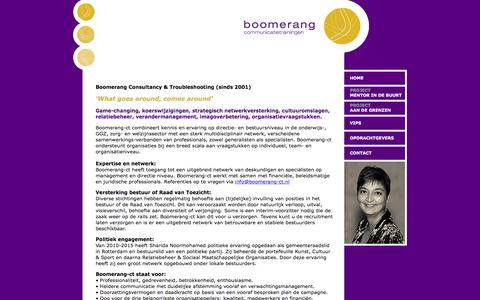 Screenshot of Home Page boomerang-ct.nl - Boomerang Communicatietrainingen - captured Nov. 22, 2016