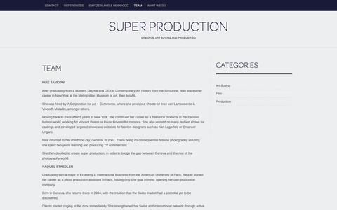 Screenshot of Team Page superproduction.ch - Team | Super Production - captured Aug. 16, 2016