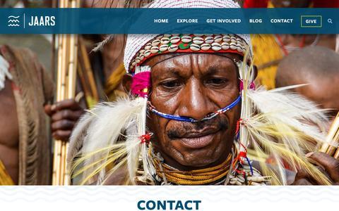 Screenshot of Contact Page jaars.org - Contact - JAARS - captured Oct. 1, 2018