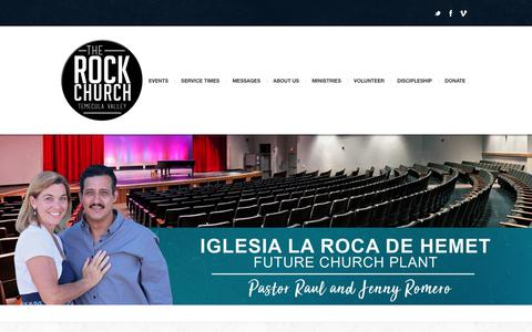 Screenshot of Home Page gotrock.org - The Rock Church Temecula Valley | - captured Nov. 16, 2018