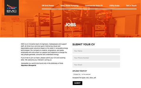 Screenshot of Jobs Page energymadeclean.com - Jobs - Energy Made Clean - captured May 19, 2017