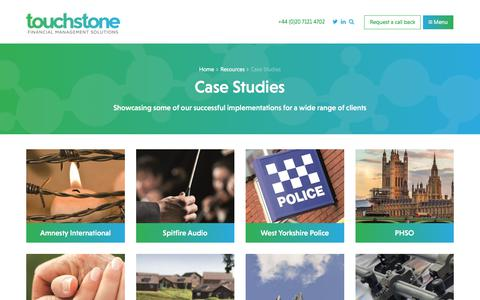 Screenshot of Case Studies Page touchstonefms.co.uk - Case Studies | Resources | Touchstone FMS - captured Nov. 20, 2017