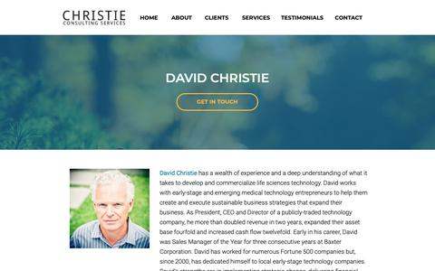 Screenshot of About Page christieconsultingservices.com - Christie Consulting Services | About - captured Nov. 27, 2018