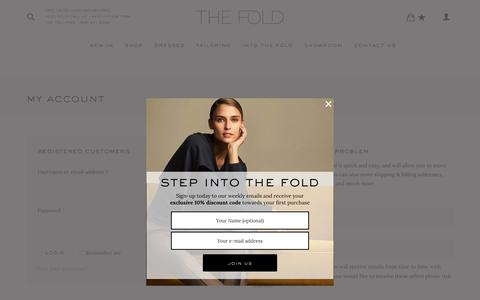 Screenshot of Signup Page Login Page thefoldlondon.com - My Account - The Fold | thefoldlondon.com - captured Nov. 8, 2017