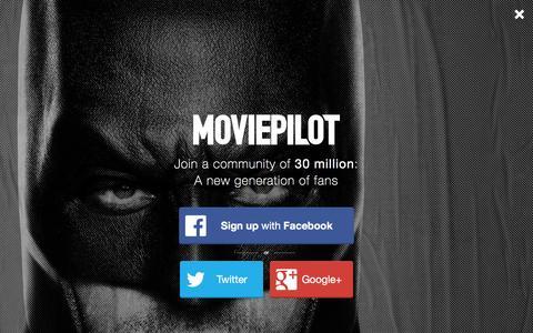 Screenshot of Login Page moviepilot.com - A New Generation of Fans | moviepilot.com - captured Dec. 25, 2015