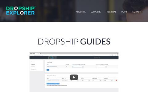 Screenshot of Support Page dropshipexplorer.com - Dropship Explorer - Contact - captured July 8, 2018