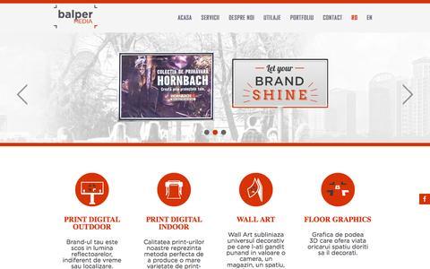 Screenshot of Home Page balper.ro - Balper Media - captured Nov. 16, 2016